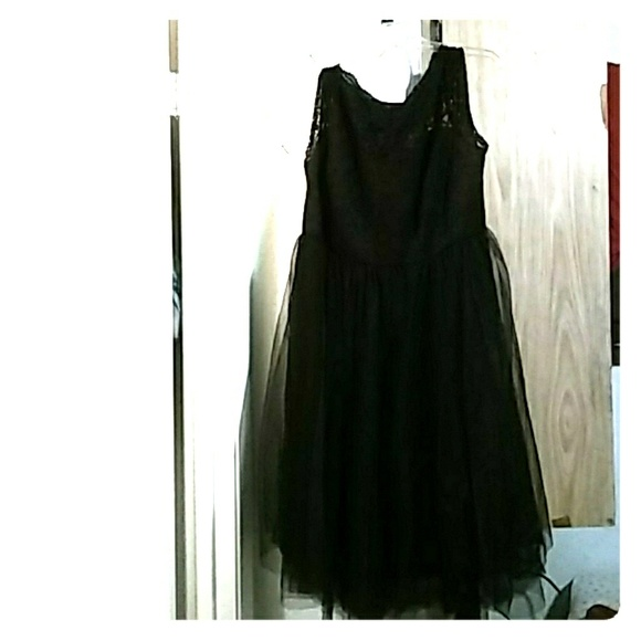 81 Off Torrid Dresses Black Poofy Lace Dress Poshmark